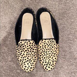 Gap leopard print loafers